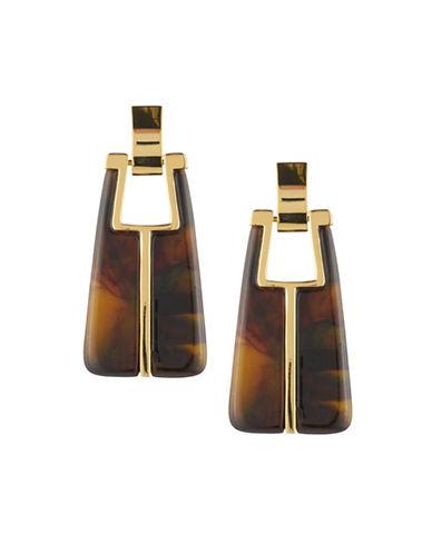 Trina Turk Linear Drop Earrings-BROWN-One Size