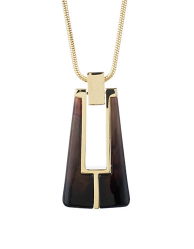 Trina Turk Mulholland Mod Pendant Necklace-BROWN-One Size