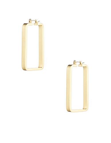 Trina Turk Sunset Hills Medium Rectangular Hoop Earrings-GOLD-One Size