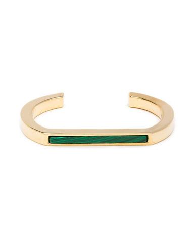 Trina Turk Sunset Hills Open Cuff Bracelet-GREEN-One Size
