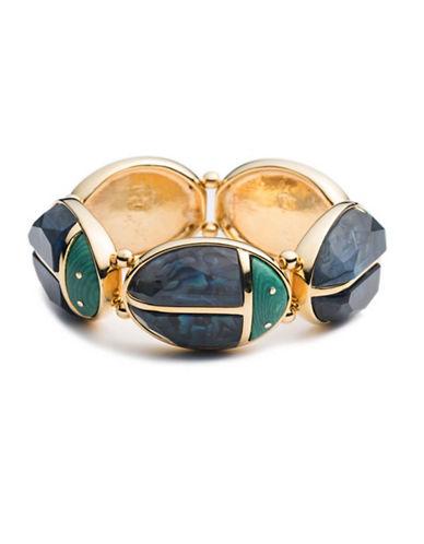 Trina Turk Sunset Ladybug Stretch Bangle Bracelet-BLUE-One Size