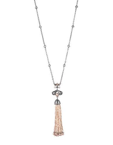 Carolee Queen of Gems Tassel Necklace-PINK-One Size