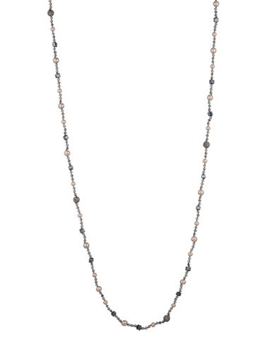 Carolee Queen of Gems Strand Necklace-GREY-One Size
