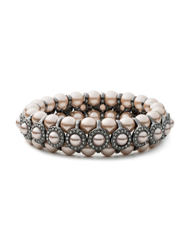 Carolee Queen of Gems Beaded Bracelet-GREY-One Size