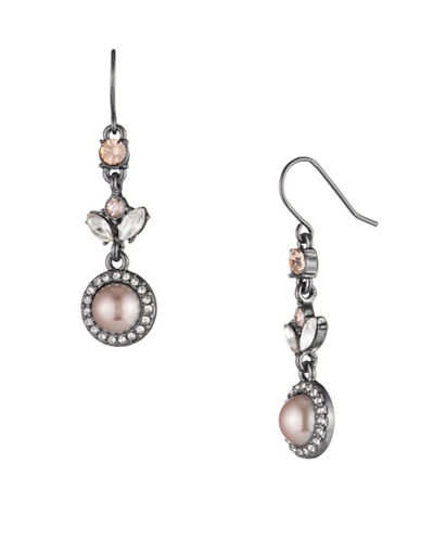 Carolee Queen of Gems Drop Earrings-PINK-One Size