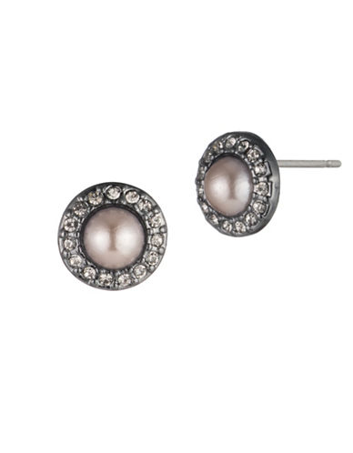 Carolee Queen of Gems Stud Earrings-PINK-One Size