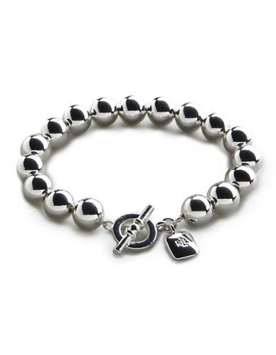 Lauren Ralph Lauren 10mm Bead Bracelet-SILVER-One Size