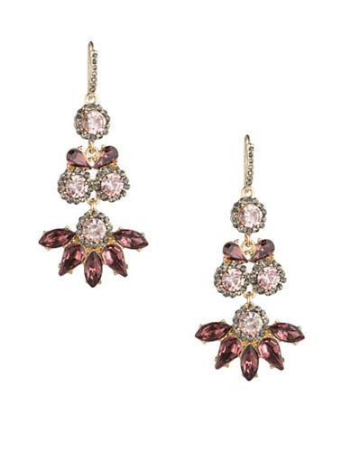 A.B.S. By Allen Schwartz Make Me Blush Triple Drop Earrings-GOLD/MULTI-One Size