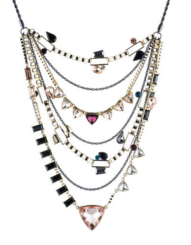 A.B.S. By Allen Schwartz Make Me Blush Layered Necklace-TWO TONE-One Size