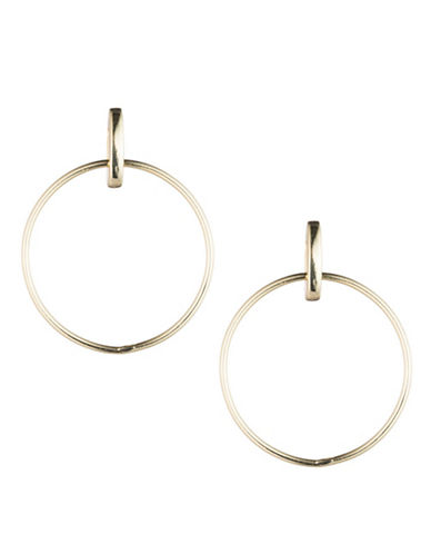 Lauren Ralph Lauren Goldtone Doorknocker Earrings-GOLD-One Size