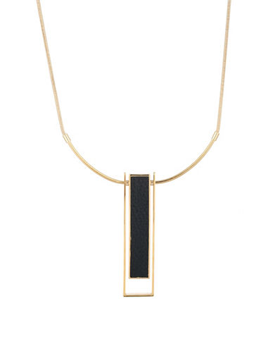 Trina Turk Sunset Hills Drop Pendant Necklace-BLACK-One Size