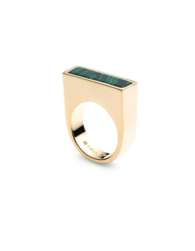 Trina Turk Sunset Hills Bar Solitaire Ring-GOLD-One Size