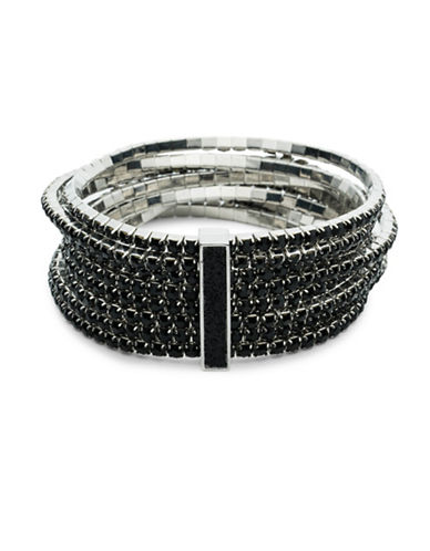 A.B.S. By Allen Schwartz Black Magic Stretch Bracelet Set-BLACK-One Size