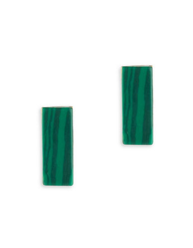 Trina Turk Sunset Hills Bar Malachite Stud Earrings-GREEN-One Size