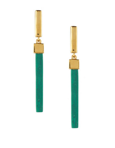 Trina Turk Sunset Hills Linear Bar Drop Earrings-GREEN-One Size
