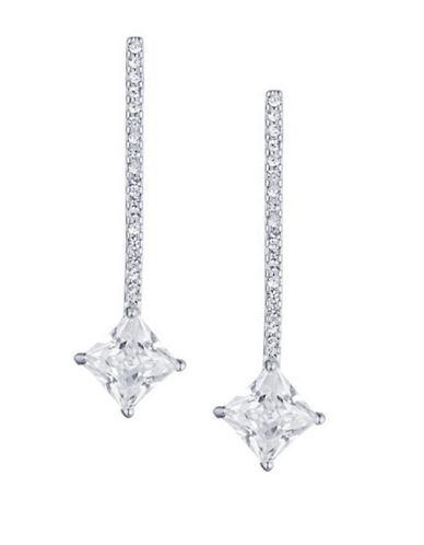 Lauren Ralph Lauren Pave Crystal Bar Drop Earrings-LIGHT WHITE-One Size