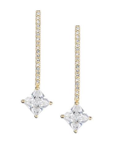 Lauren Ralph Lauren Pave Crystal Bar Drop Earrings-GOLD-One Size