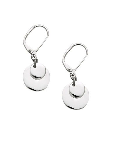 Lauren Ralph Lauren Double Disc Earring-SILVER-One Size