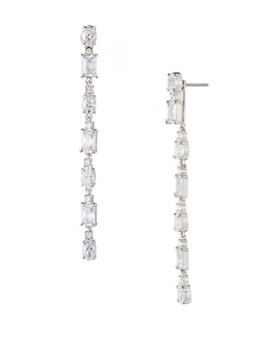 Carolee Holiday Fling Crystal Four-In-One Linear Jacket Earrings-WHITE-One Size