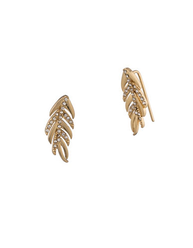 Lauren Ralph Lauren Pavé Crystal Climber Earrings-GOLD-One Size