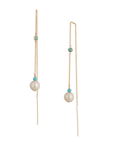 Lauren Ralph Lauren Pearl Threader Earrings-MULTI-One Size