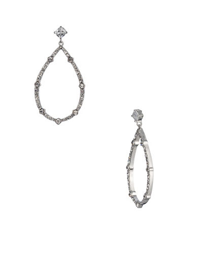 Carolee Social Soiree Crystal Drama Chandelier Earrings-WHITE-One Size