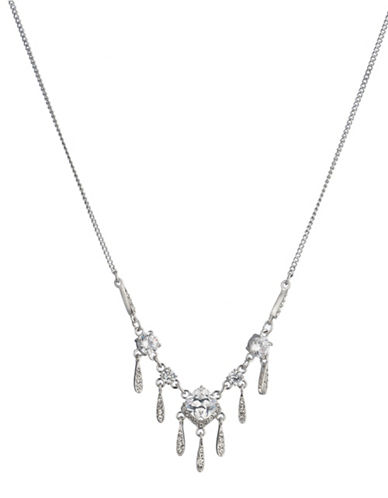 Carolee Social Soiree Crystal Necklace-WHITE-One Size