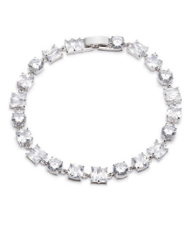 Carolee Social Soiree Crystal Single Row Flex Bracelet-WHITE-One Size