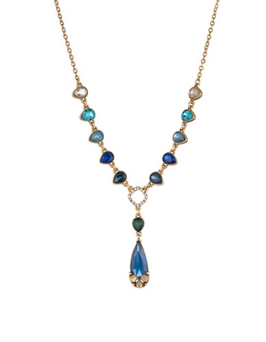 Carolee Pacific Gala Crystal Caged Stone Pendant Necklace-GOLD-One Size
