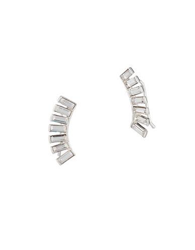 Lauren Ralph Lauren Crystal Climber Earrings-SILVER-One Size