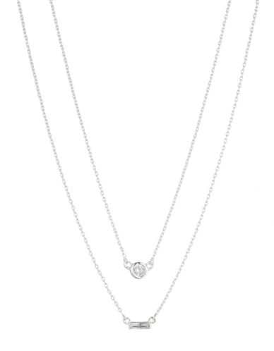 Lauren Ralph Lauren Faux Pearl and Crystal Multi-Row Necklace-WHITE-One Size
