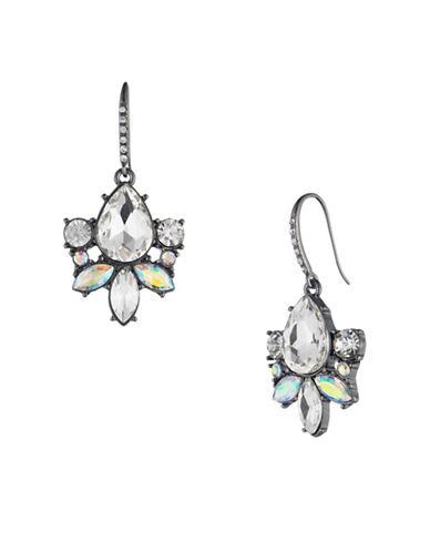 A.B.S. By Allen Schwartz All Ears Crystal Drop Earrings-WHITE-One Size