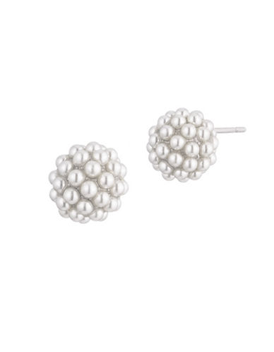 Carolee Pearl Premier Simulated Faux Pearl Stud Earrings-WHITE-One Size