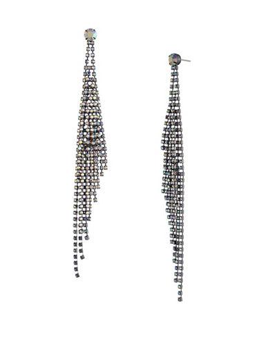 A.B.S. By Allen Schwartz All Ears Crystal Chandelier Earrings-WHITE-One Size