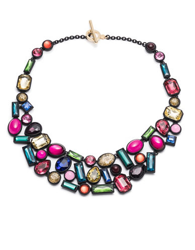 Trina Turk Confetti and Cocktails Crystal Multi Stone Statement Necklace-MULTI-One Size