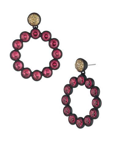 Trina Turk Cocktails & Confetti Hoop Earrings-PINK-One Size