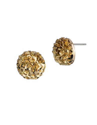 Trina Turk Midnight Studio Sequin Cab Stud Earrings-GOLD-One Size