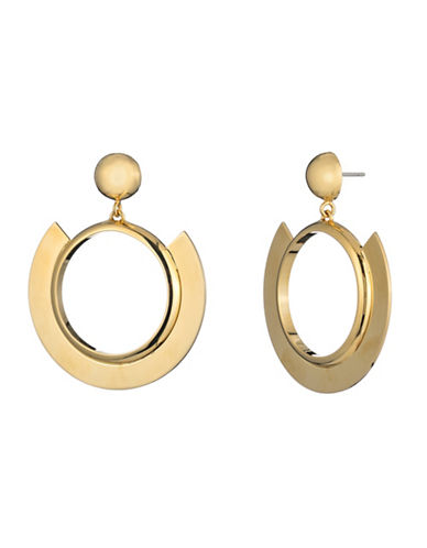 Trina Turk Midnight Studio Disc Hoop Earrings and Pendant Necklace-GOLD-One Size