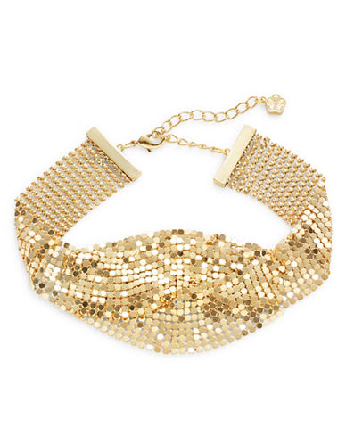 Trina Turk Midst Layered Chain Choker-GOLD-One Size