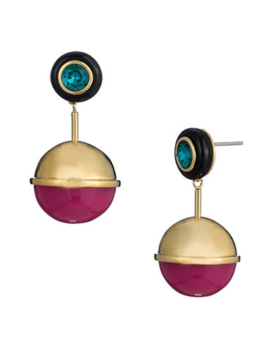 Trina Turk Destination Groove Drop Earrings-PINK-One Size