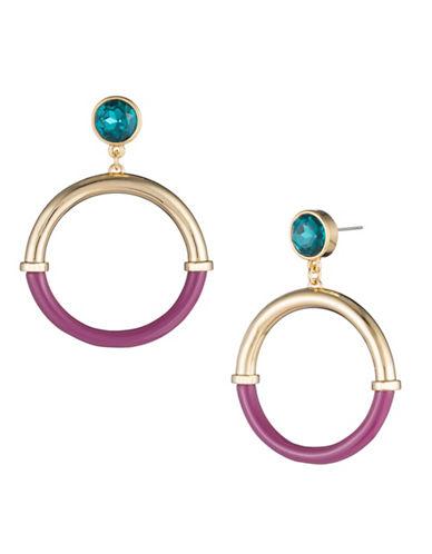 Trina Turk Destination Groove Resin Hoop Earrings-PINK-One Size