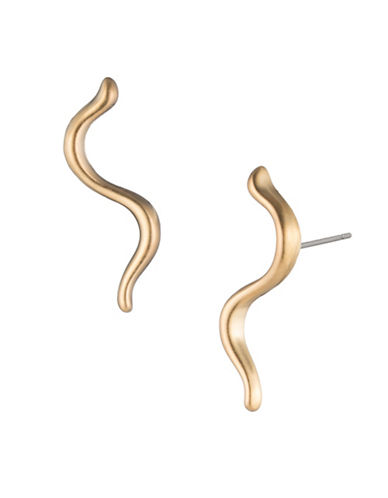 Trina Turk Gold Rush Wavy Ear Climbers-GOLD-One Size