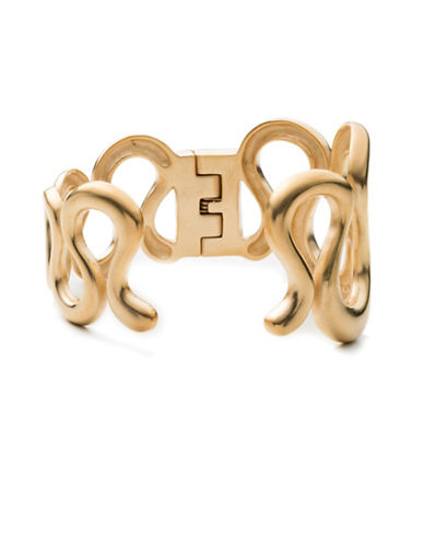 Trina Turk Gold Rush 14K Goldplated Wavy Cuff Bracelet-GOLD-One Size