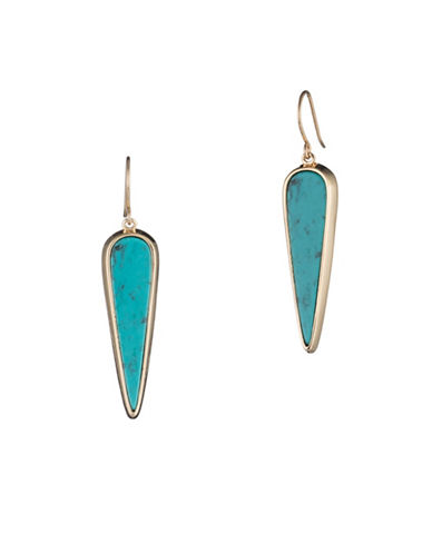 Lauren Ralph Lauren Gold Drop Earrings-BLUE-One Size