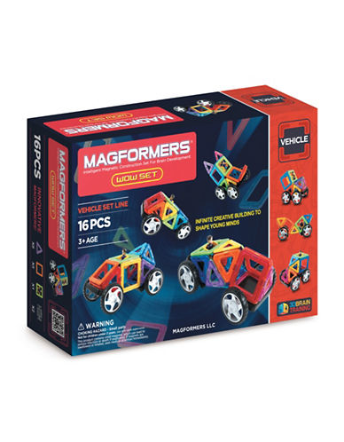 Magformers Wow Vehicle 16-Piece Set-ASSORTED-One Size