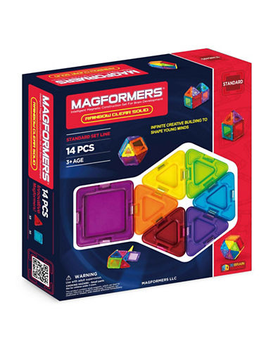 Magformers Rainbow Solid and Clear 14-Piece Set-ASSORTED-One Size