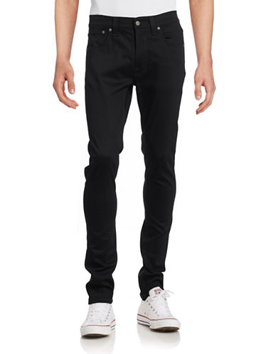 Nudie Jeans Lean Dean Dry Cold Black Jeans-BLACK-36X34