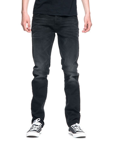 Nudie Jeans Dude Dan Cotton Rider Jeans-BLACK-29X32