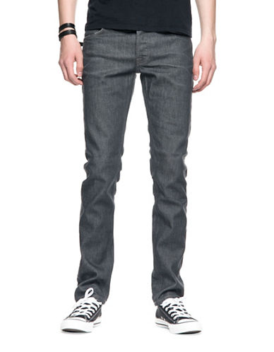 Nudie Jeans Grim Tim Crinkle Cotton Jeans-GREY-38X32
