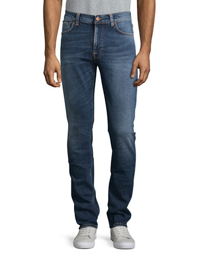Nudie Jeans Shackled Straight Leg Jeans-BLUE-34X34